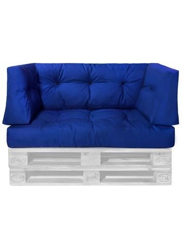 Dekoro Saks Mavi Dış Mekan Palet Minderi Seti (Set: 4 ) Mavi